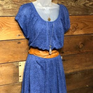 Leif Notes medium blue hi-lo dress M